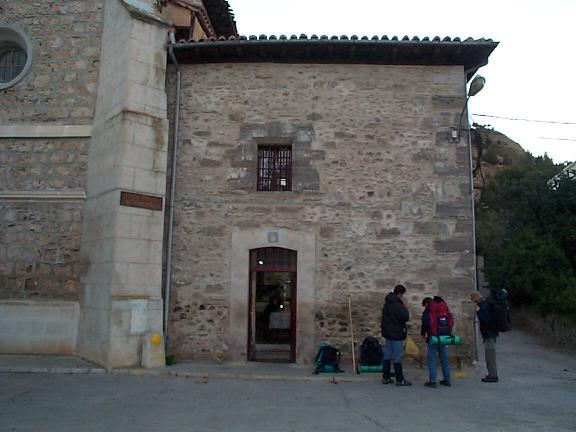 "The outside of the refuge in ""Belorado"" - grañón to belorado"